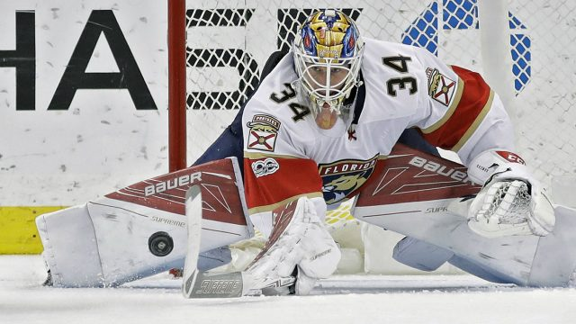 Florida-Panthers-goalie-James-Reimer.-(Chris-O'Meara/AP)