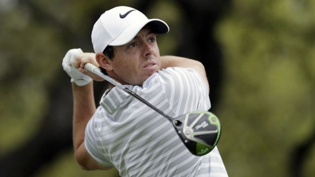 Rory-McIlroy,-of-Northern-Ireland,-watches-his-drive-on-the-first-hole-during-round-robin-play-against-Soren-Kjeldsen,-of-Denmark,-at-the-Dell-Technologies-Match-Play-golf-tournament-at-Austin-County-Club,-Wednesday,-March-22,-2017,-in-Austin,-Texas.-(Eric-Gay/AP)