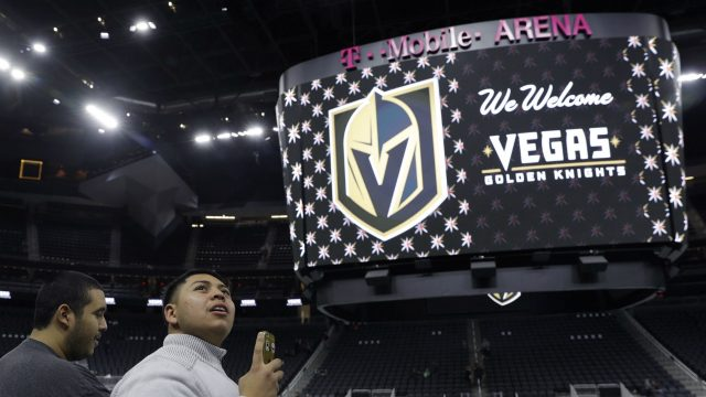 The-Vegas-Golden-Knights-hope-to-have-their-jerseys-unveiled-in-June.-(John-Locher,-File/AP)