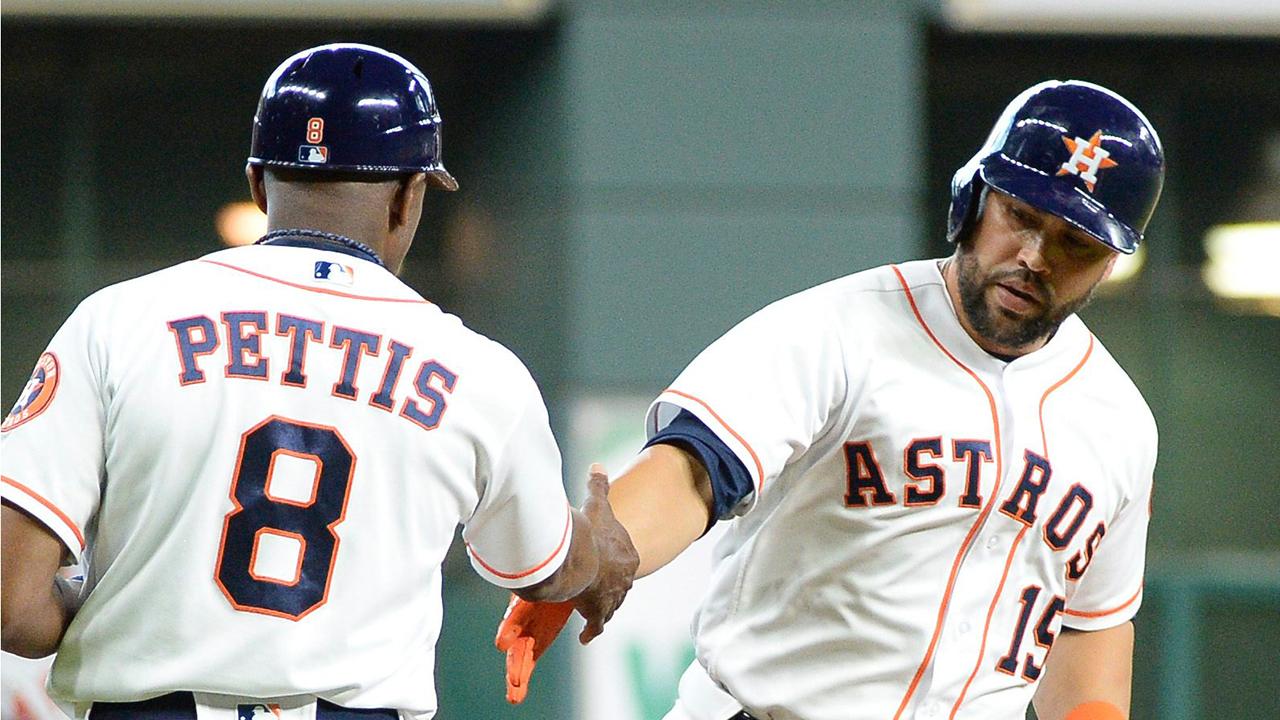 Carlos Beltran S First Homer Helps Astros Top Angels