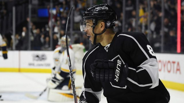 Los-Angeles-Kings-right-wing-Jarome-Iginla-celebrates-after-scoring-on-Nashville-Predators-goalie-Pekka-Rinne-in-overtime-of-an-NHL-hockey-game,-Thursday,-March-9,-2017,-in-Los-Angeles.-The-Kings-won-3-2.-(Mark-J.-Terrill/AP)