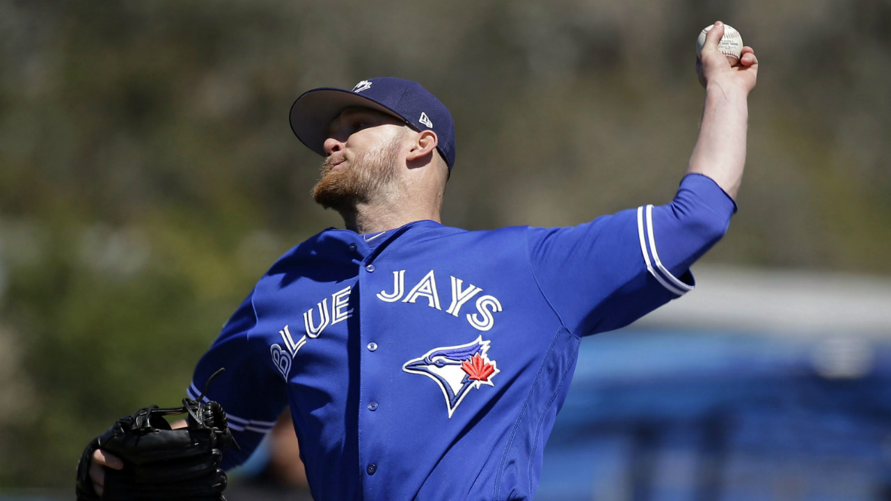 Toronto-Blue-Jays'-J.P.-Howell-pitches-against-the-New-York-Yankees-in-the-sixth-inning-of-a-spring-training-baseball-game,-Thursday,-March-16,-2017,-in-Dunedin,-Fla.-(John-Raoux/AP)