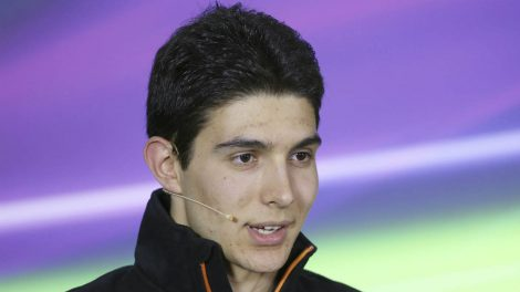 Force-India-driver-Esteban-Ocon-of-France-answers-a-question-during-a-press-conference-at-the-track-in-Melbourne,-Thursday,-March-23,-2017.-Sunday's-season-opening-Australian-Grand-Prix,-where-F1rule-changes-requiring-wider-tires,-greater-aerodynamics,-bigger-fuel-loads-and-increased-downforce-are-expected-to-make-the-heavier-cars-significantly-faster-than-previous-years.-(Rick-Rycroft/AP)