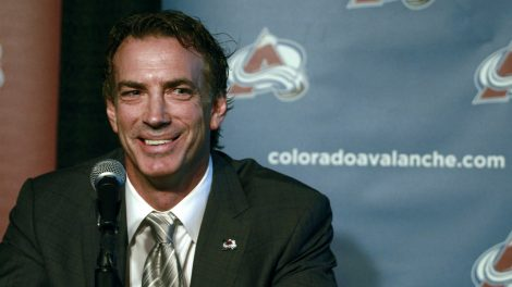 Colorado-Avalanche-general-manager-Joe-Sakic.-(Brennan-Linsley/AP)
