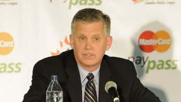 WHL-Commisioner-and-CHL-Vice-President-Ron-Robison-at-the-Canadian-Hockey-League-media-conference-at-the-MasterCard-Memorial-Cup-in-Brandon,-MB-(Aaron-Bell/CHL-Images)