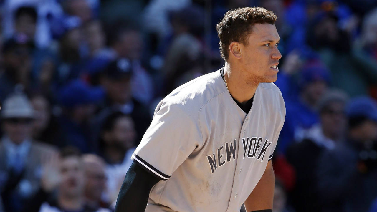 New-York-Yankees'-Aaron-Judge-reacts-after-being-called-out-on-strikes-during-the-eighth-inning-of-an-interleague-baseball-game-against-the-Chicago-Cubs,-Friday,-May-5,-2017,-in-Chicago.-(Nam-Y.-Huh/AP)