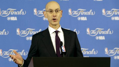 NBA-Commissioner-Adam-Silver-speaks-at-a-news-conference-before-Game-1-of-basketball's-NBA-Finals-between-the-Golden-State-Warriors-and-the-Cleveland-Cavaliers-in-Oakland,-Calif.,-Thursday,-June-1,-2017.-(Jeff-Chiu/AP)