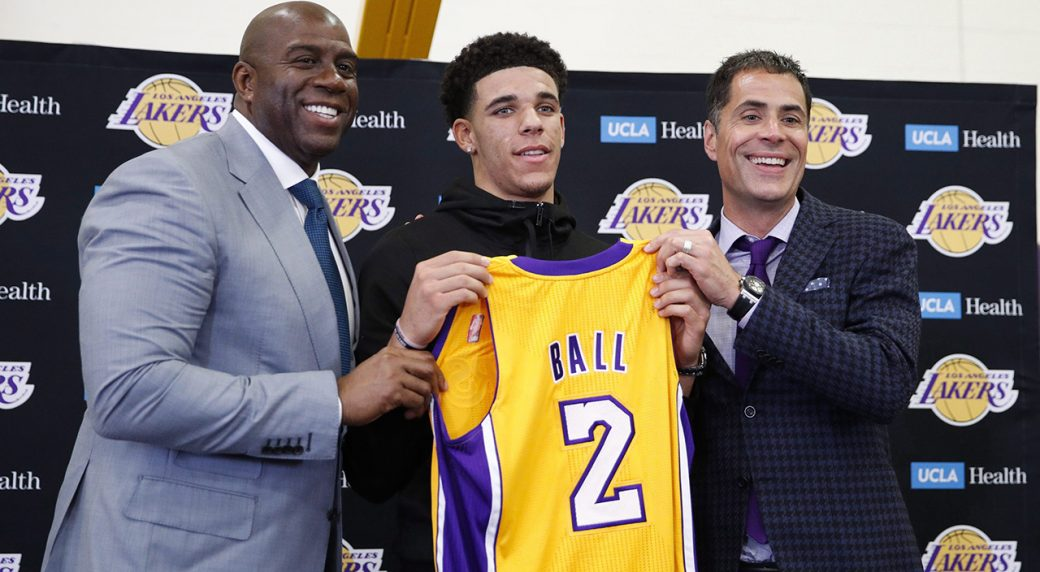 save off b67be ea511 NBA Preview: The Lonzo Ball era begins in Los Angeles ...