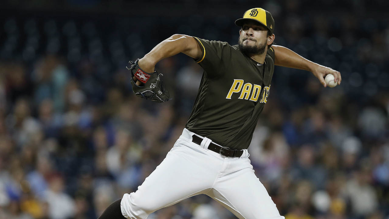 San-Diego-Padres-relief-pitcher-Brad-Hand-throws-during-the-ninth-inning-of-the-team's-baseball-game-against-the-Pittsburgh-Pirates-in-San-Diego,-Friday,-July-28,-2017.-Hand-picked-up-a-save,as-the-Padres-won-3-2.-(Alex-Gallardo/AP)