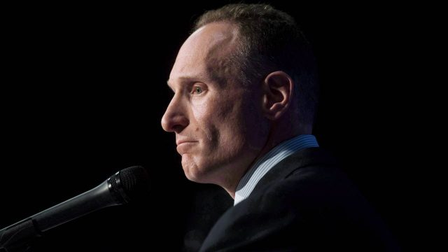 Toronto-Blue-Jays-new-president-and-chief-executive-officer-Mark-Shapiro-answers-questions-at-a-press-conference-in-Toronto-on-Monday,-November-2,-2015.-Shapiro-met-with-Dunedin-officials-Monday-night-regarding-proposed-upgrades-to-the-club's-spring-training-facility-that-would-help-keep-the-franchise-in-the-only-spring-home-it's-ever-known.-(Marta-Iwanek/CP)