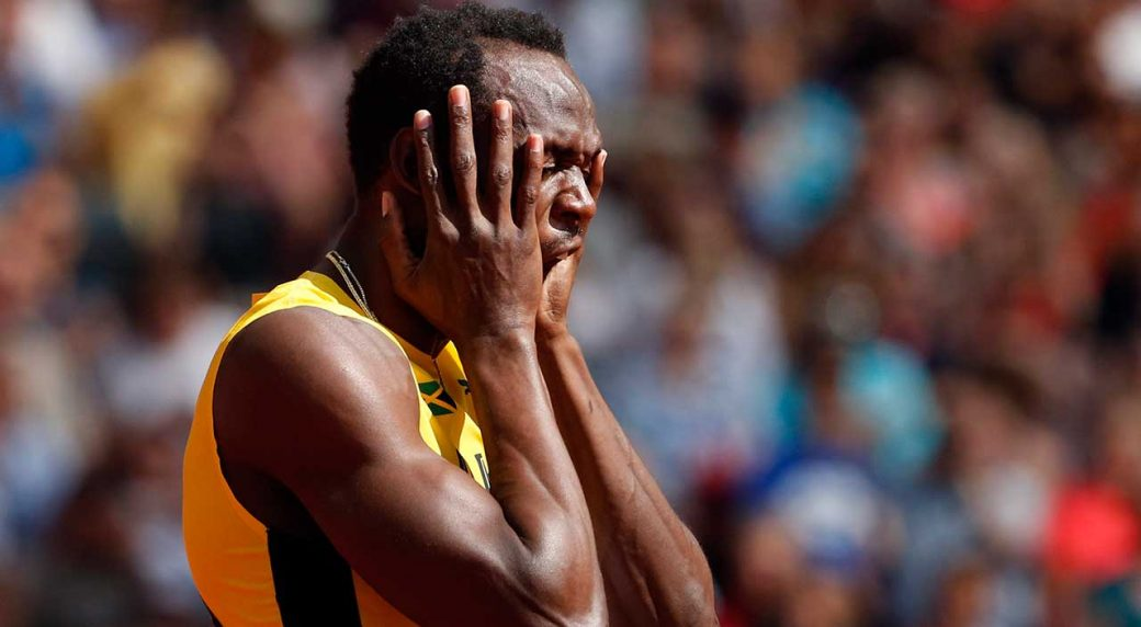 8463535109a Bolt injured in final 4x100 metre relay at world championships ...