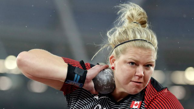 Canada's-Brittany-Crew-makes-an-attempt-in-the-women's-shot-put-final.-(Matthias-Schrader/AP)