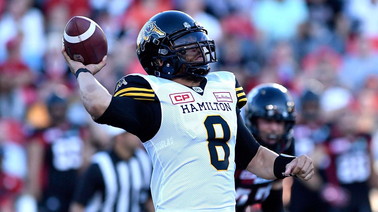 Hamiltion-Tiger-Cats-quarterback-Jeremiah-Masoli.-(Justin-Tang/CP)