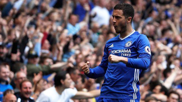 Chelsea's-Eden-Hazard-celebrates-after-scoring.-(Kirsty-Wigglesworth/AP)