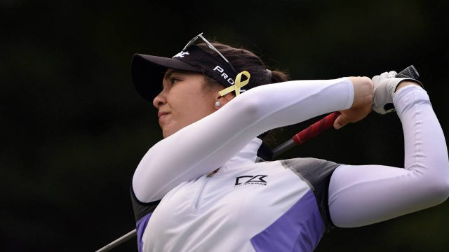 Canada's-Brittany-Marchand-drives-from-the-2nd-tee-during-the-third-round-of-the-2017-Canadian-Pacific-Women's-Open-in-Ottawa-on-Saturday,-Aug.-26,-2017.-(Sean-Kilpatrick/CP)