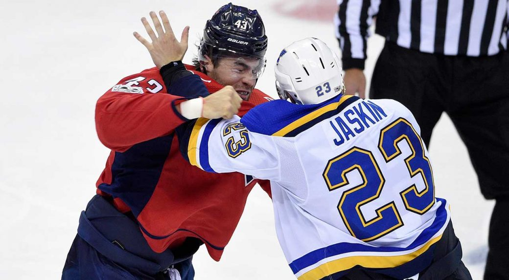 brand new 85d32 dff31 Capitals' Tom Wilson to have hearing for hit on Blues' Sam ...