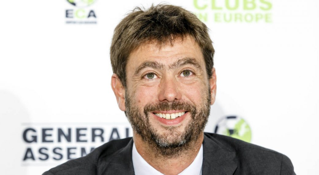 The-new-chairman-of-the-European-Club-Association,-ECA,-Italy's-Andrea-Agnelli-attends-a-news-conference-after-the-plenary-general-assembly-of-the-European-Club-Association,-ECA,-in-Geneva,-Switzerland,-Tuesday,-Sept.-5,-2017.-(Salvatore-Di-Nolfi/Keystone-via-AP)