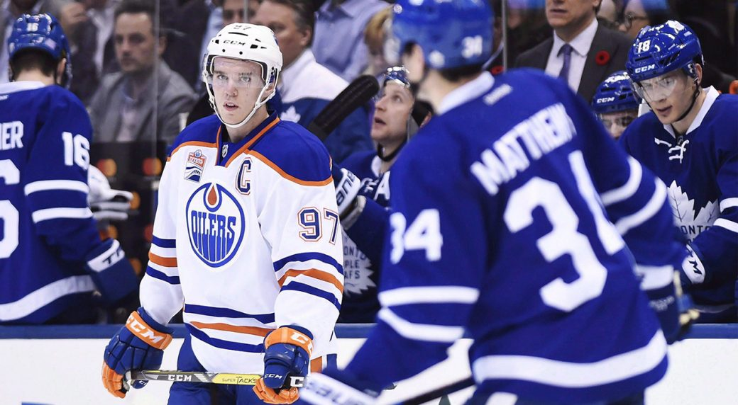 Connor-McDavid;-Auston-Matthews;-Toronto-Maple-Leafs;-Edmonton-Oilers