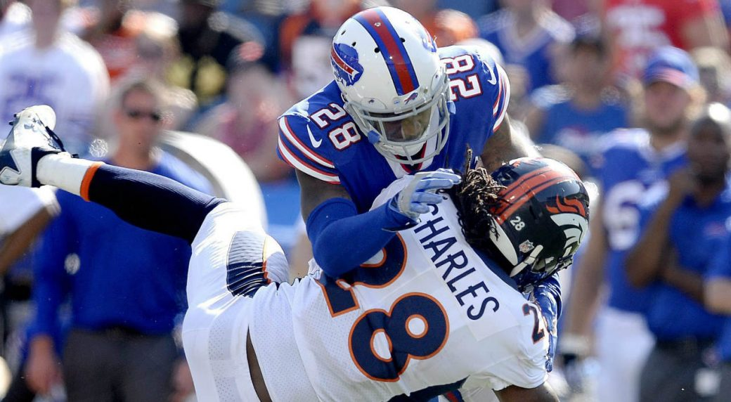 Buffalo-Bills-cornerback-E.J.-Gaines,-top,-makes-a-hit-on-Denver-Broncos-running-back-Jamaal-Charles-during-the-second-half-of-an-NFL-football-game,-Sunday,-Sept.-24,-2017,-in-Orchard-Park,-N.Y.-(Adrian-Kraus/AP)