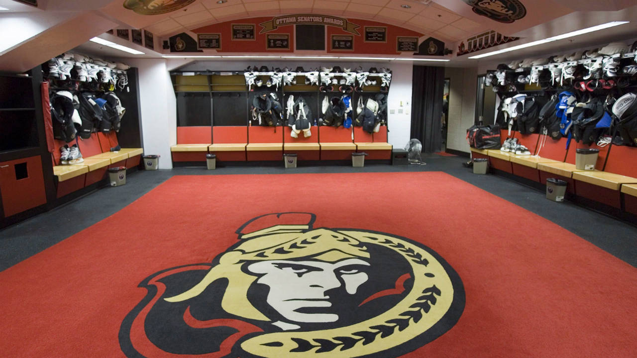 The-Ottawa-Senators-dressing-room-at-the-Scotiabank-Place-in-Ottawa-is-emptied-out-after-the-final-media-availability-for-the-season-Saturday-June-9,-2007.-While-systems,-line-combinations-and-getting-through-to-his-players-were-going-to-be-among-the-obvious-keys-to-success,-Guy-Boucher-also-looked-at-the-locker-room-setup-with-an-eye-towards-getting-even-more-out-of-his-team.-(Jonathan-Hayward/CP)