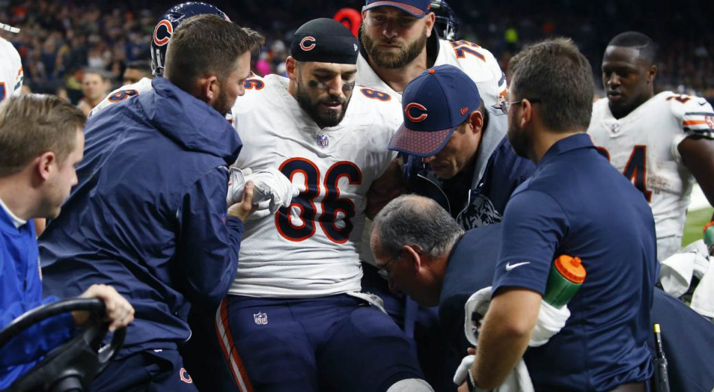 on sale 61ded 61df6 Saints visit Bears' Zach Miller in New Orleans hospital ...