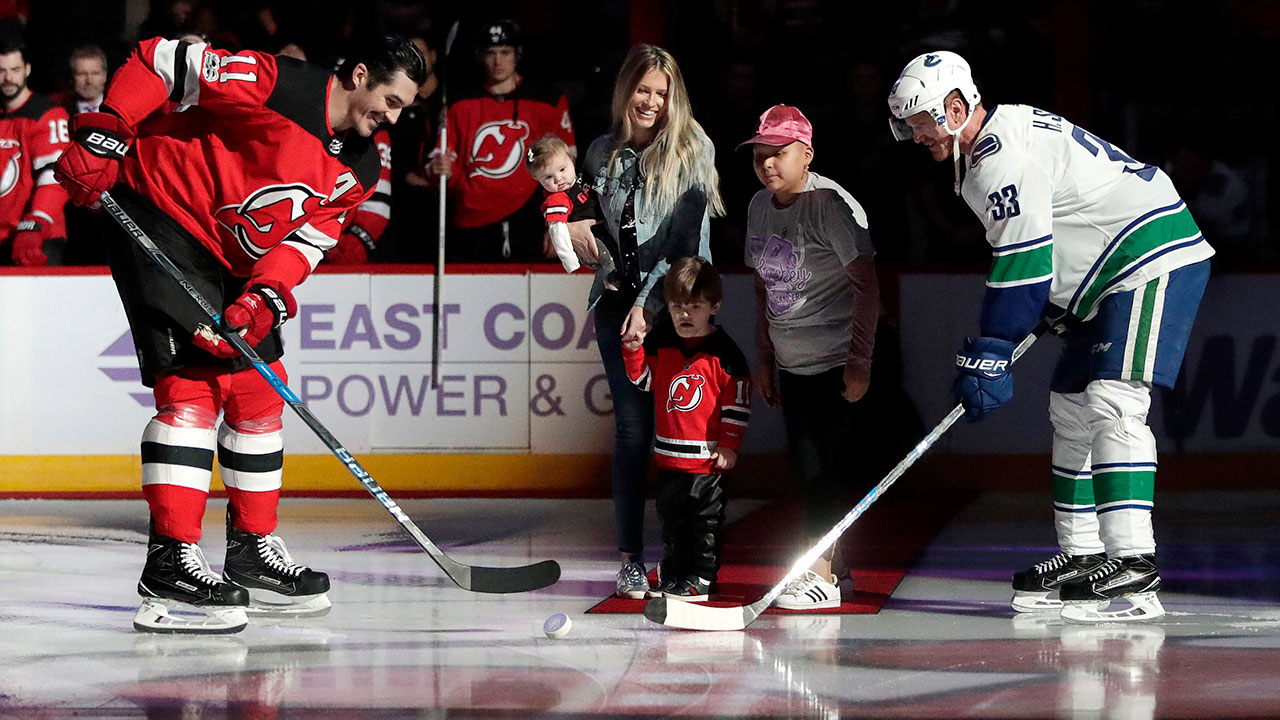best sneakers 23863 4625e Devils embrace eight-year-old guest coach for Hockey Fights ...