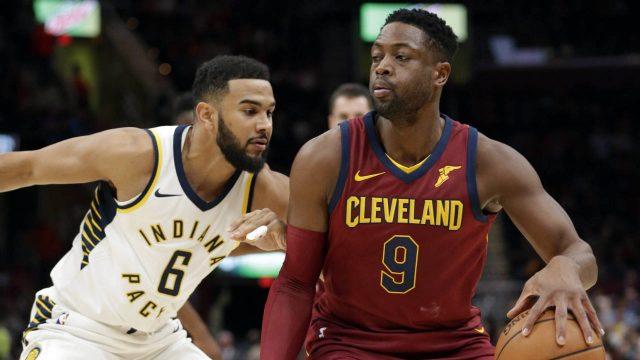 Cleveland-Cavaliers'-Dwyane-Wade-(9)-drives-against-Indiana-Pacers'-Cory-Joseph-(6).-(Tony-Dejak/AP)
