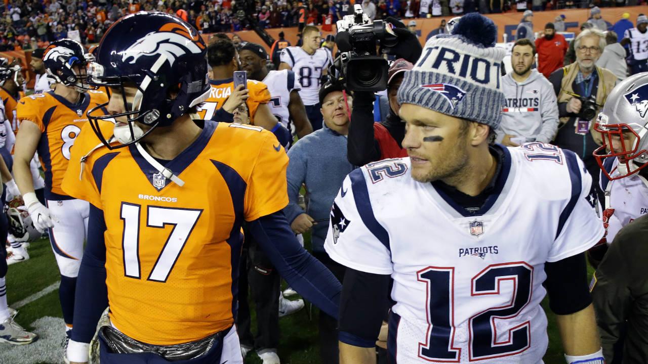 New-England-Patriots-quarterback-Tom-Brady-(12)-and-Denver-Broncos-quarterback-Brock-Osweiler-(17)-meet-after-an-NFL-football-game,-Sunday,-Nov.-12,-2017,-in-Denver.-The-Patriots-won-41-16.-(Jack-Dempsey/AP)