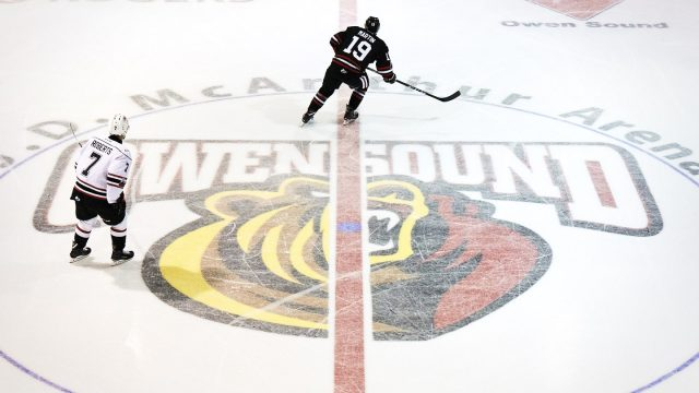 Zachary-Roberts-of-the-Owen-Sound-Attack-skates-across-centre-ice-at-Harry-Lumley-Bayshore-Community-Centre.