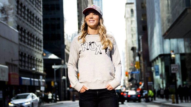 Canadian-freestyle-skier-Dara-Howell-poses-for-a-photograph-in-downtown-Toronto-on-Wednesday,-October-25,-2017.-(Nathan-Denette/CP)