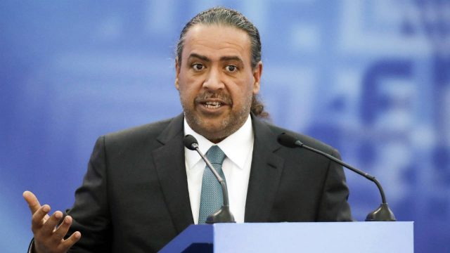 In-this-Friday,-Oct.-21,-2016-file-photo,-Kuwait's-Sheikh-Ahmad-Al-Fahad-Al-Ahmed-Al-Sabah,-president-of-the-Association-of-National-Olympic-Committees-(ANOC)-speaks-at-the-European-Olympic-Committees-General-Assembly-in-Minsk,-Belarus.-Three-soccer-officials-who-pleaded-guilty-in-American-courts-to-accepting-bribes-were-banned-for-life-by-the-FIFA-ethics-committee-on-Tuesday-Nov.-21,-2017.-(Sergei-Grits,-File/AP)