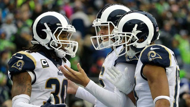 Los-Angeles-Rams-Todd-Gurley,-Jared-Goff-and-Robert-Woods