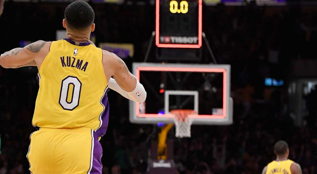 promo code 4cd9f 188f9 Kyle Kuzma's fourth-quarter explosion leads Lakers past ...