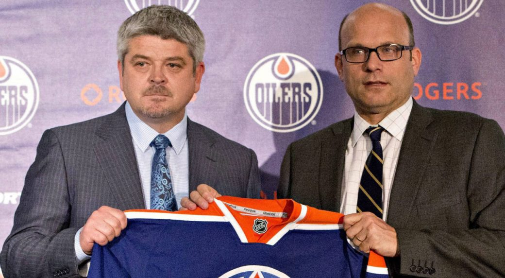 Todd-McLellan,-left,-and-Peter-Chiarelli,-President-of-Hockey-Operations-and-General-Manager-of-the-Edmonton-Oilers.-(Jason-Franson/CP)