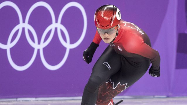 Canada's-Kim-Boutin-competes-in-the-women's-500-metre-short-track-speedskating-semifinals-at-the-Pyeonchang-Winter-Olympics-Tuesday,-February-13,-2018-in-Gangneung,-South-Korea.-(Paul-Chiasson/CP)