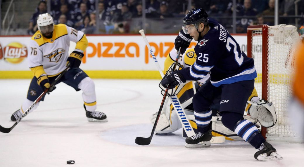 Jets Stastny Leaves During Warmups Will Not Play Vs Predators Sportsnet Ca
