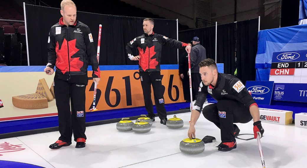 Gushue opens men's world curling championship with win over Russia ...
