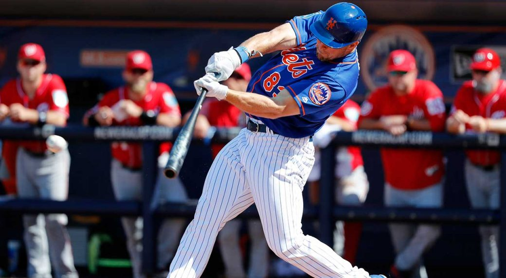 super popular c7b74 77a1e Tim Tebow hits a single in first spring training start with ...