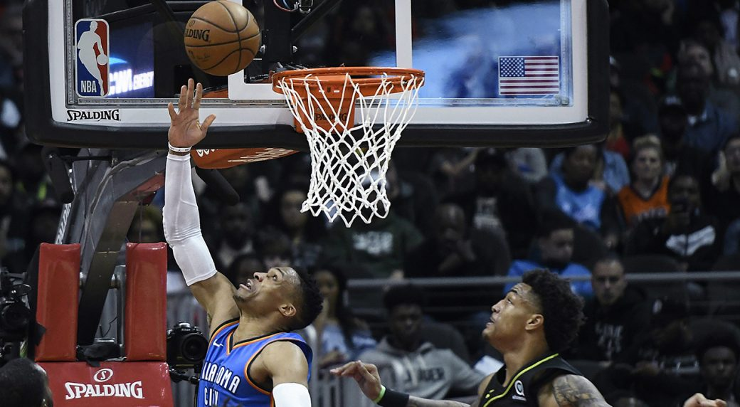 Westbrook's 100th triple-double, Thunder beats Hawks