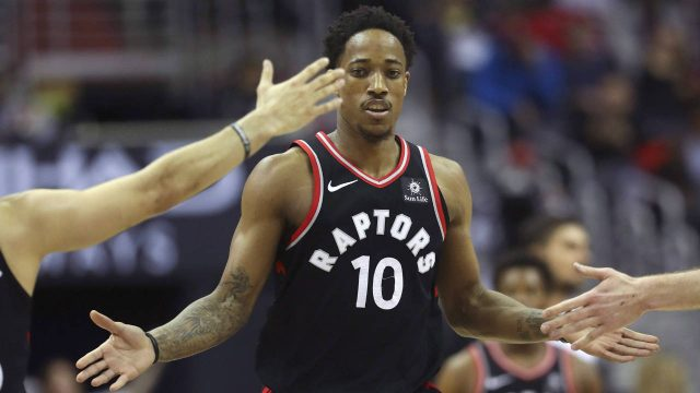 Toronto-Raptors-guard-DeMar-DeRozan.-(Pablo-Martinez-Monsivais/AP)