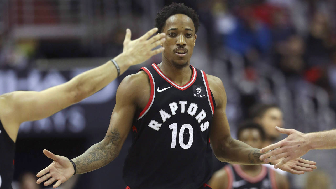 Toronto-Raptors-guard-DeMar-DeRozan.-(Pablo-Martinez-Monsivais/AP)