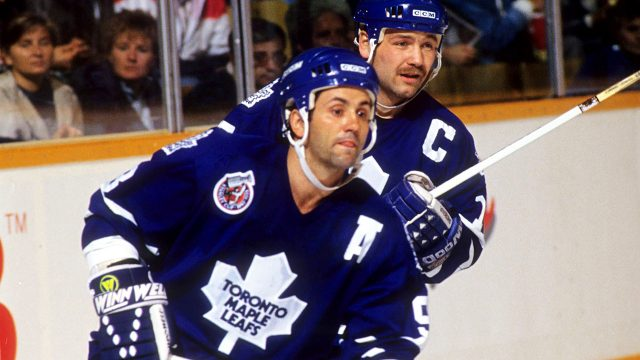 Toronto-Maple-Leafs;-Doug-Gilmour;-Wendel-Clark