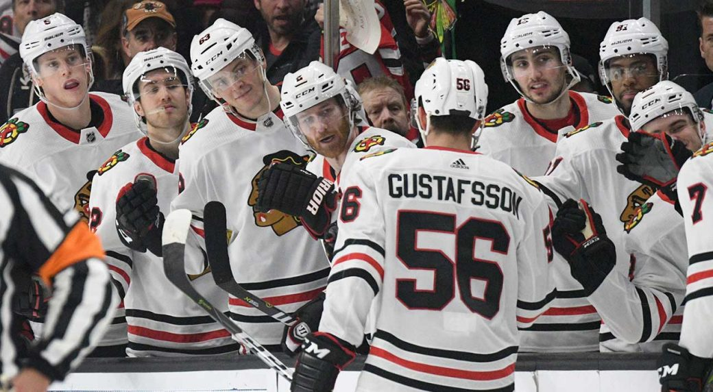 outlet store 3b8c8 9e15b Blackhawks agree to two-year extension with Erik Gustafsson ...