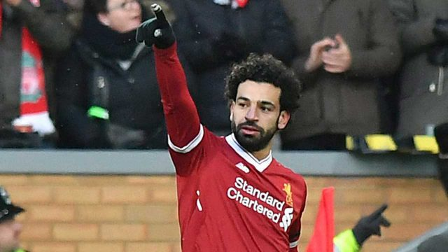 Liverpool's-Mohamed-Salah-celebrates