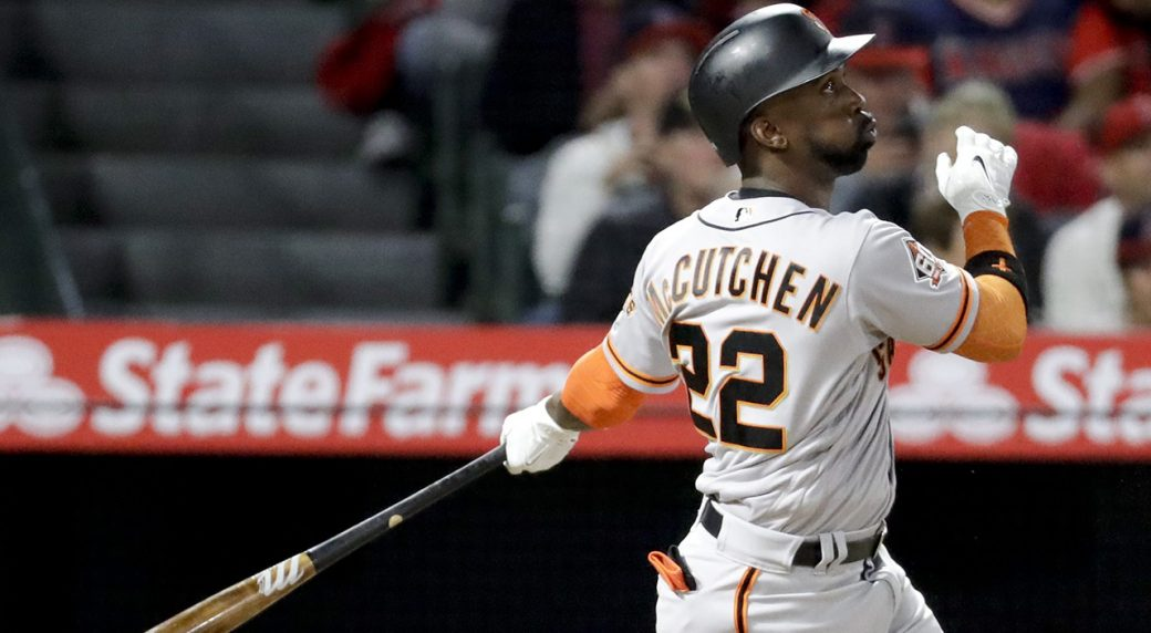 cheap for discount 7701b 69f72 Yankees officially acquire Andrew McCutchen from Giants ...