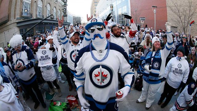 "Winnipeggers-attend-the-""White-Out-Street-Party""-for-Winnipeg-Jets"