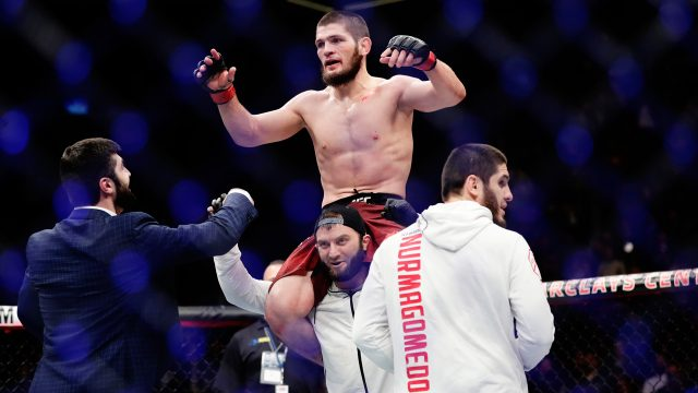 Khabib-Nurmagomedov-is-hoisted-onto-his-teammates-shoulders-after-winning-the-lightweight-title-at-UFC-223