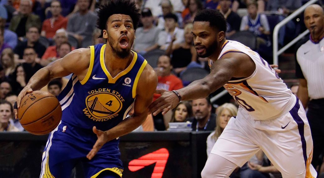 online store 13359 7c388 Fill-in guard Quinn Cook rewarded with new 2-year contract ...