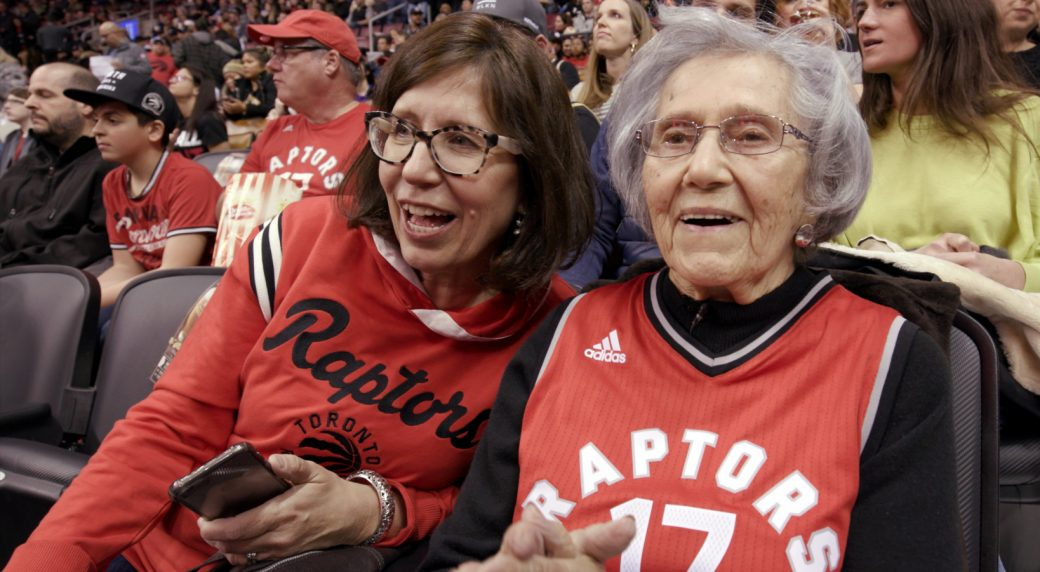This 93-year-old Lithuanian Raptors fan has an amazing story