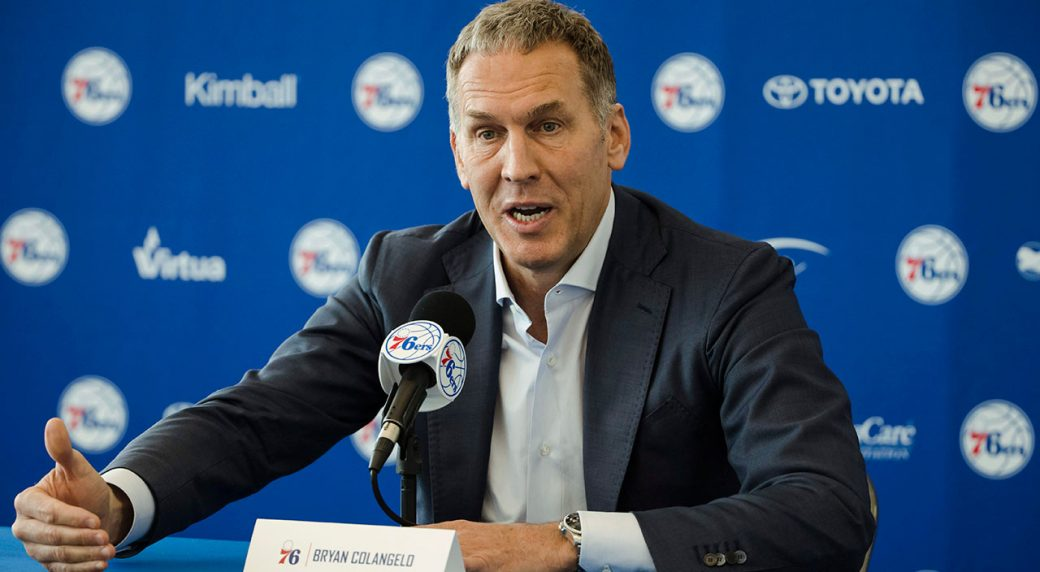 Watch Live: 76ers address resignation of Bryan Colangelo